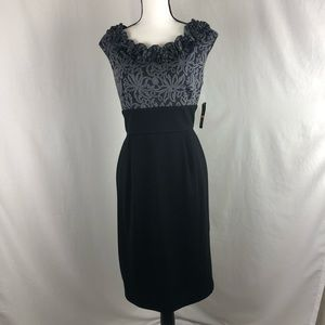 NEW DIRECTIONS black and grey dress size 12